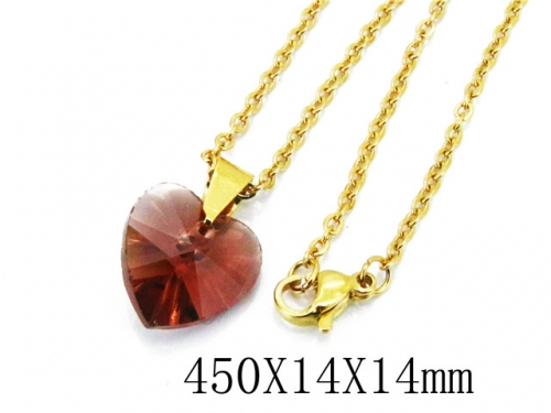 HY Wholesale Stainless Steel 316L Lover Necklaces-HY12N0116JLB