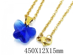 HY Stainless Steel 316L Necklaces(Crystal)-HY12N0124JLU