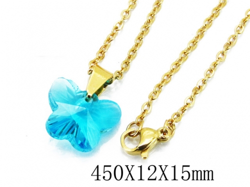 HY Stainless Steel 316L Necklaces(Crystal)-HY12N0125JLY