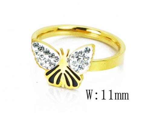 HY Wholesale 316L Stainless Steel CZ Rings-HY19R0366OD
