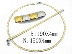 HY Stainless Steel 316L Necklaces Bracelets (Two Tone)-HY58S0674HHQ