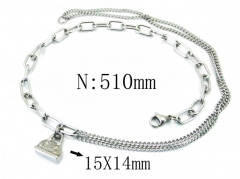 HY Wholesale Stainless Steel 316L Necklaces-HY40N1078HJQ