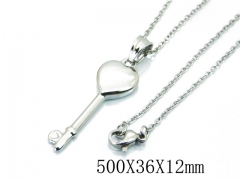 HY Wholesale Stainless Steel 316L Lover Necklaces-HY64N0045LW