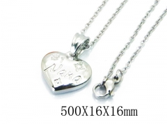 HY Wholesale Stainless Steel 316L Lover Necklaces-HY64N0053LW