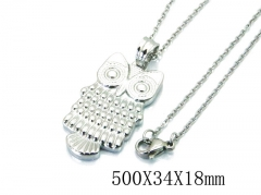 HY Stainless Steel 316L Necklaces (Animal Style)-HY64N0042MA