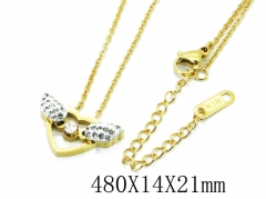 HY Wholesale Stainless Steel 316L Lover Necklaces-HY80N0315N5