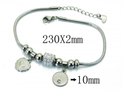 HY Wholesale Stainless Steel 316L Bracelets-HY24B0052HLQ