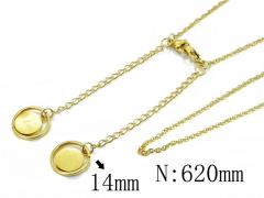 HY Wholesale Stainless Steel 316L Necklaces-HY80N0329OA