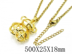HY Stainless Steel 316L Necklaces (Bear Style)-HY90N0171HPD