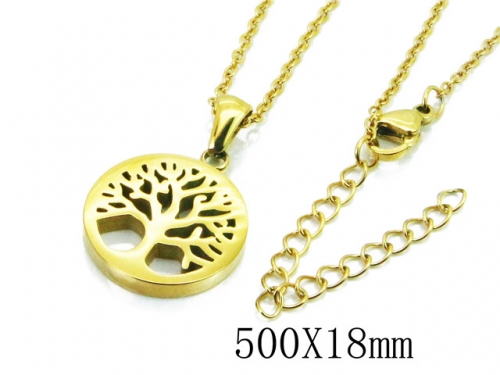HY Wholesale Stainless Steel 316L Necklaces-HY91N0174MLD