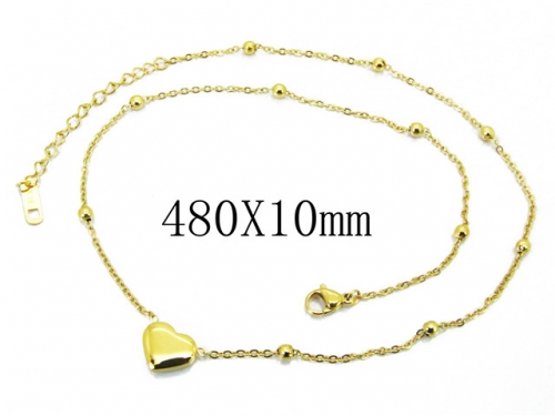 HY Wholesale Stainless Steel 316L Lover Necklaces-HY32N0099OE
