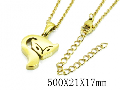 HY Stainless Steel 316L Necklaces (Animal Style)-HY91N0187MLQ