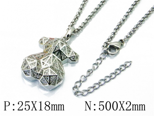 HY Stainless Steel 316L Necklaces (Bear Style)-HY90N0179IEE