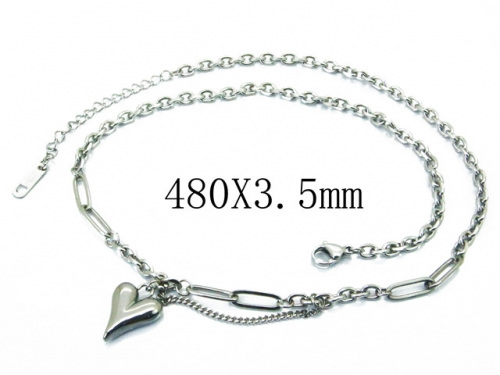 HY Wholesale Stainless Steel 316L Lover Necklaces-HY32N0104NL