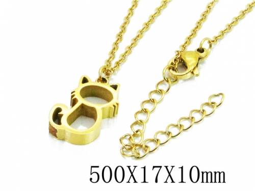 HY Stainless Steel 316L Necklaces (Animal Style)-HY91N0186MLR