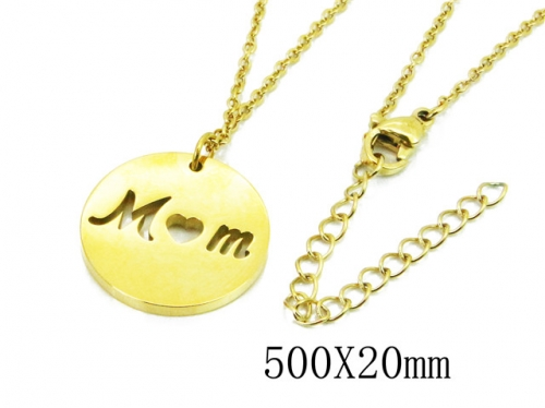 HY Wholesale Stainless Steel 316L Lover Necklaces-HY91N0172MLW