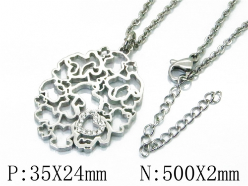HY Stainless Steel 316L Necklaces (Bear Style)-HY90N0176HKF