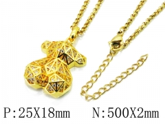 HY Stainless Steel 316L Necklaces (Bear Style)-HY90N0180IIE